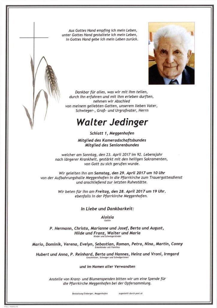 Walter Jedinger